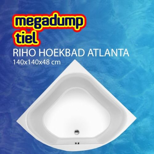 Hoekbad Atlanta 140X140X48 Cm Wit