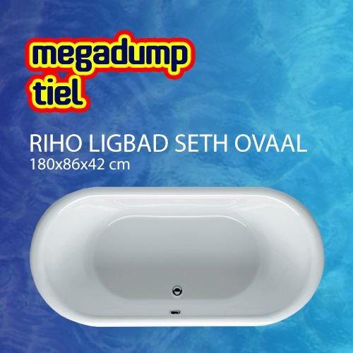 Riho Ligbad Seth ovaal 180X86X42 cm wit