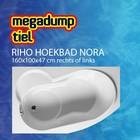 Riho Hoekbad Nora 160X100X47 cm rechts/links wit