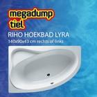 Riho Hoekbad Lyra 140X90X43 cm rechts/links wit