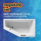 Riho Hoekbad Geta 160X90X47 cm rechts/links wit