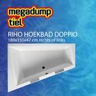 Riho Hoekbad Riho Doppio 180x130x47 cm rechts/links