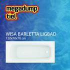 Wisa Ligbad Barletta wit 120X70X70 cm