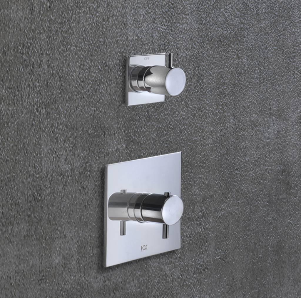 Hotbath Laddy Inbouw Thermostaat Met 1 Stopkraan 012 - Chroom
