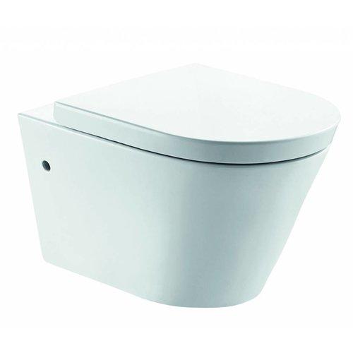 Aqua Splash Wandcloset Flow Rim-Free 55 Cm Inclusief Soft-Close Zitting