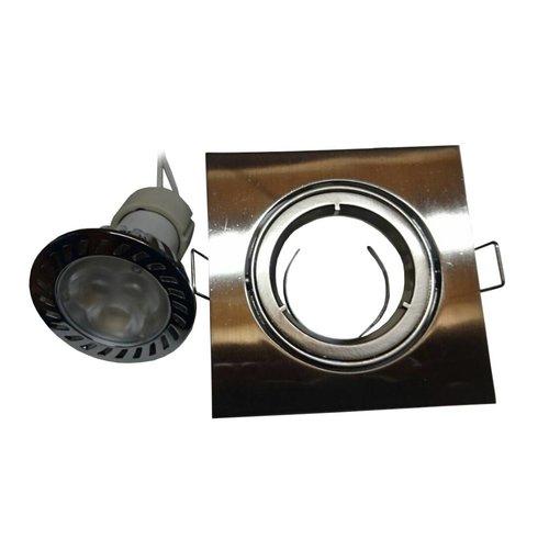Inbouw Spotlampje Vierkant Rvs