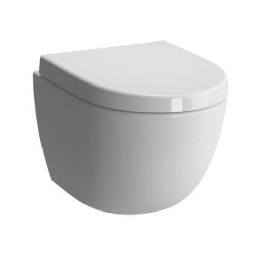 BWS wandcloset Zero compact 49 cm met soft-close zitting