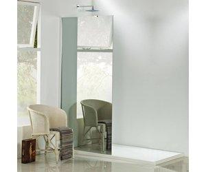 Inloopdouche Met Wastafelkast : Aqua relax spiegelglas inloopdouche 90x200 cm 8mm nano glas