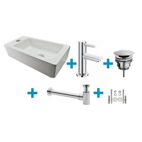 Aqua Splash Mini Rhea Fonteinset Compleet 36X18X9 Cm Links/Rechts Wit
