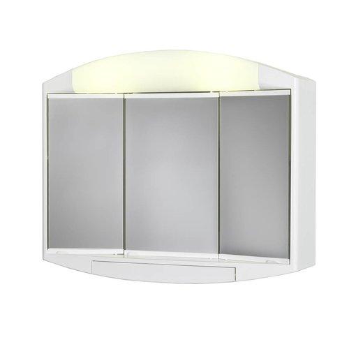 Kaly Toiletkast / Spiegelkast 59X49X16 Cm Wit