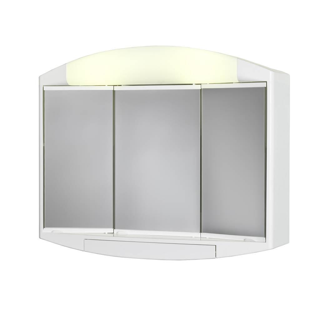 allibert kaly toiletkast spiegelkast 59x49x16 cm wit spiegels megadump tiel. Black Bedroom Furniture Sets. Home Design Ideas