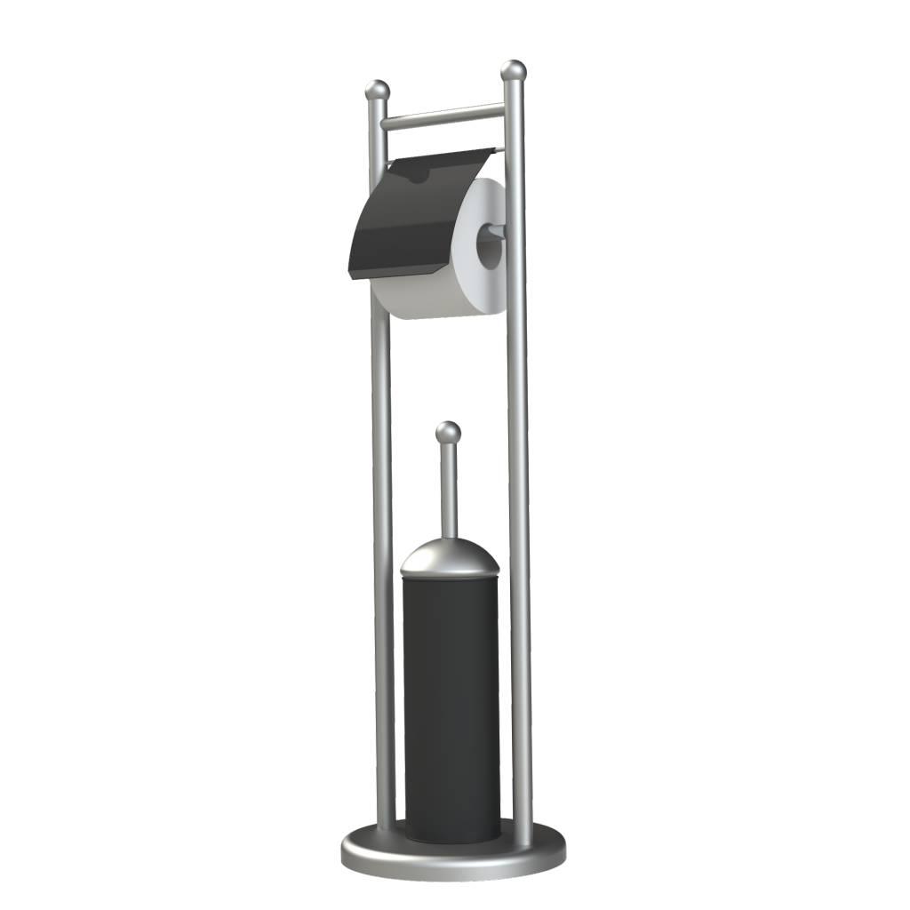 Toiletrolhouder Set Rondy Zwart