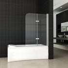 Aqua Splash Wiesbaden 2-Delige Inklapbare Badwand 100x140 Cm 6 Mm Nano Glas