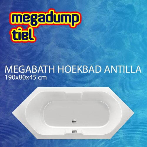 Hoekbad Antilla 190X80X45 Cm