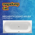 MegaBath Ligbad Aruba 170X75X45 Cm