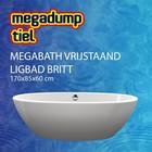 MegaBath Vrijstaand Ligbad Britt 170X85X60 Cm