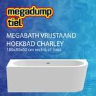 MegaBath Vrijstaand Hoekbad Charley 180X80X60 Cm Rechts/Links