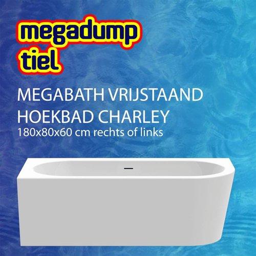 Vrijstaand Hoekbad Charley 180X80X60 Cm Rechts/Links