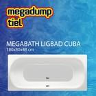 MegaBath Ligbad Cuba 180X80X48 Cm