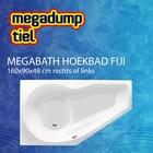 MegaBath Hoekbad Fiji 160X90X48 Cm Rechts/Links