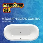 MegaBath Ligbad Gomera 170X75X49 Cm