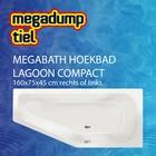 MegaBath Hoekbad Lagoon Compact 160X75X45 Cm Rechts/Links