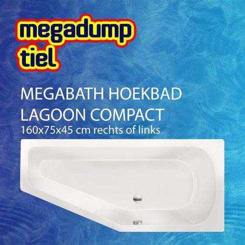 Hoekbad Lagoon Compact 160X75X45 Cm Rechts/Links