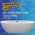 MegaBath Vrijstaand Ligbad Rens 155X75X60 Cm