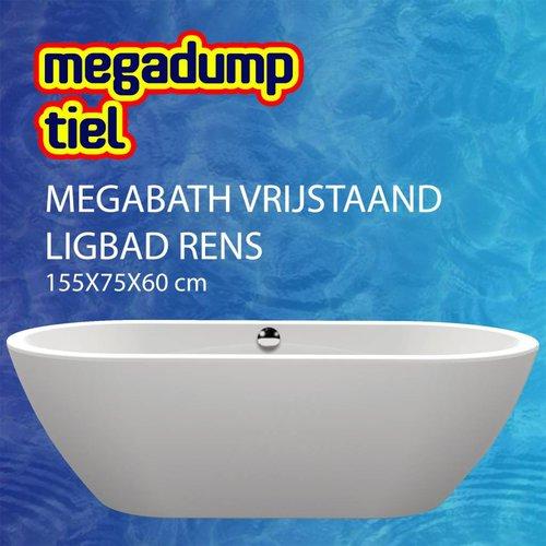 Vrijstaand Ligbad Rens 155X75X60 Cm