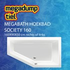 MegaBath Hoekbad Society 160 160X90X50 Cm Rechts/Links