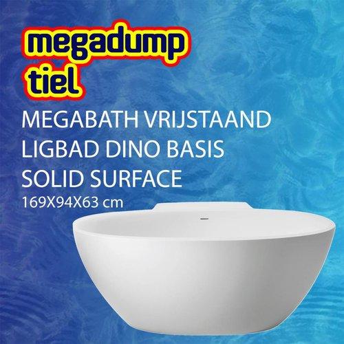 MegaBath Vrijstaand Ligbad Dino Basis Solid Surface 169X94X63 Cm