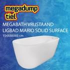 MegaBath Vrijstaand Ligbad Mario Solid Surface 154X68X65 Cm