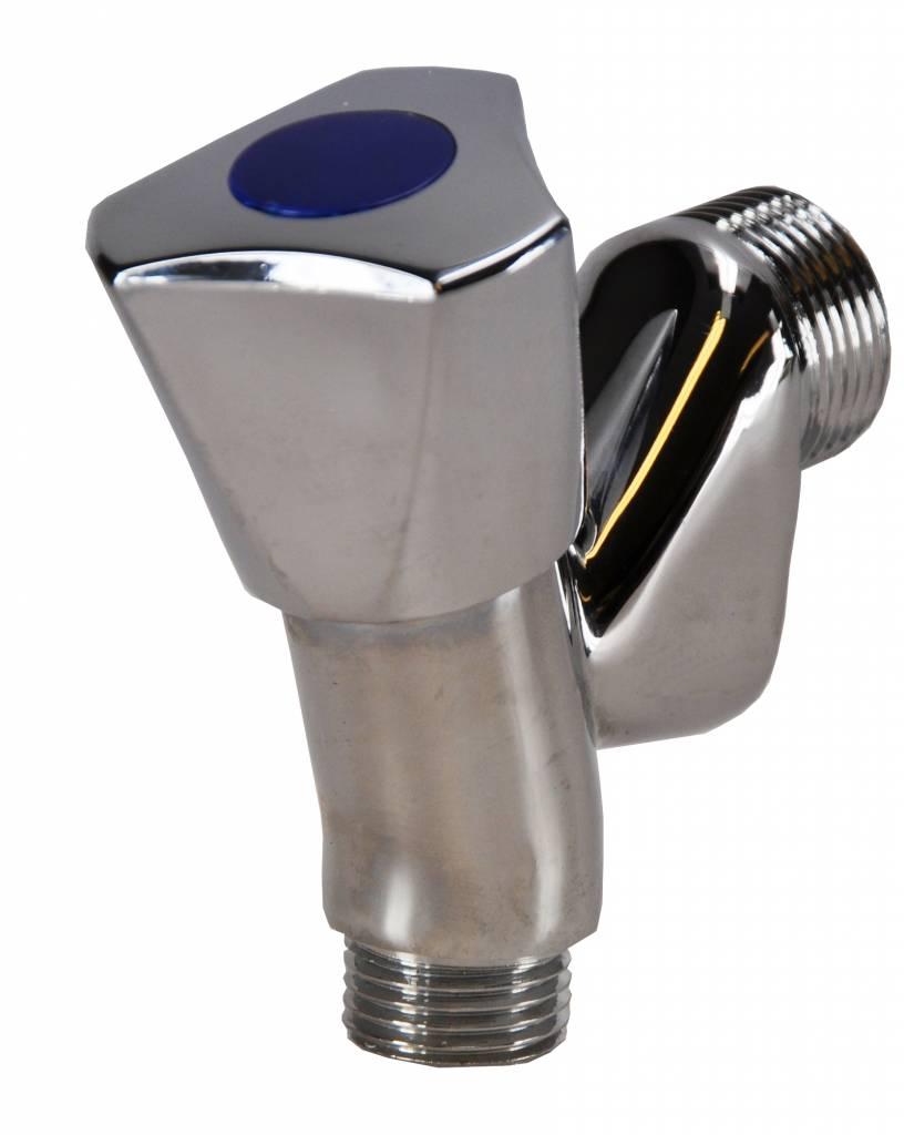 Wasm.-Beluchterkraan 1/2X3/4 Chroom Knop