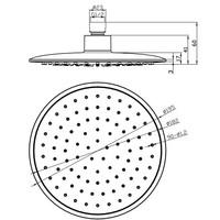 ABS hoofddouche rond 200mm chroom/grijs