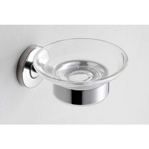Aqua Splash 304-zeepschaalhouder met glas RVS