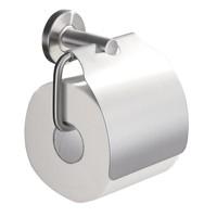 304-toiletrolhouder + klep RVS