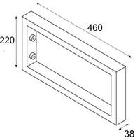 Chroom Vierkante Supportbeugel 46X22