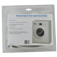 Rvs Wm Aansluitset 150Cm + Kraan + Waterslot