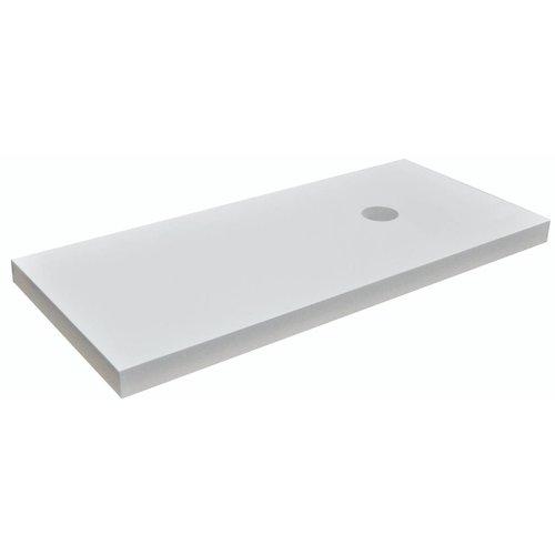 Aqua Splash wastafelblad 1000x460x55 hoogglans wit gelakt