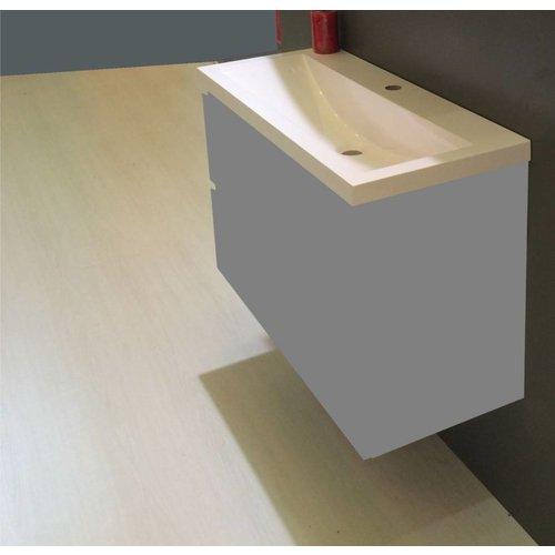 Aqua Splash Wiesbaden wastafel 100cmx36cm één kraangat wit