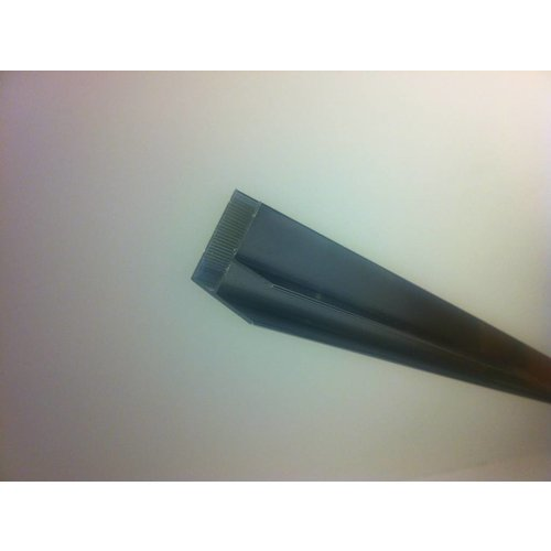 Hoekprofiel 90 graden tbv glaswand 1 cm lengte 200 cm