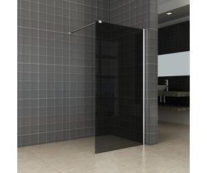 Inloopdouche Met Wastafelkast : Aqua splash inloopdouche met muurprofiel en rookglas 120x200 cm 10