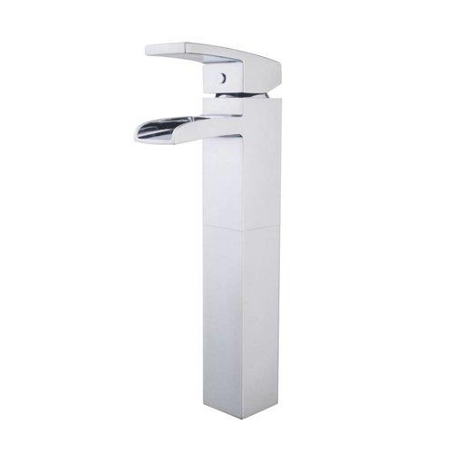 Aqua Splash Wastafelkraan Rombo Hoge Waterval Chroom