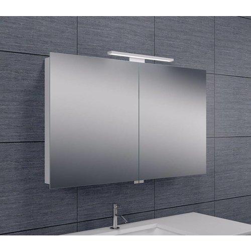 Spiegelkast Met Led Verlichting 100X60 Aluminium