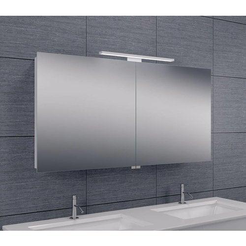 Spiegelkast Met Led Verlichting 120X60X14 Aluminium