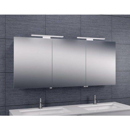 Spiegelkast Met Led Verlichting 140X60 Aluminium