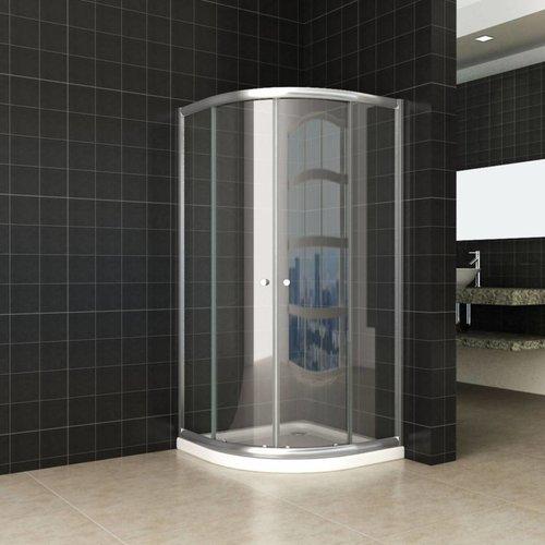 Douchecabine Aktie Kwartrond 90X90X190 Cm 5Mm Helder Glas