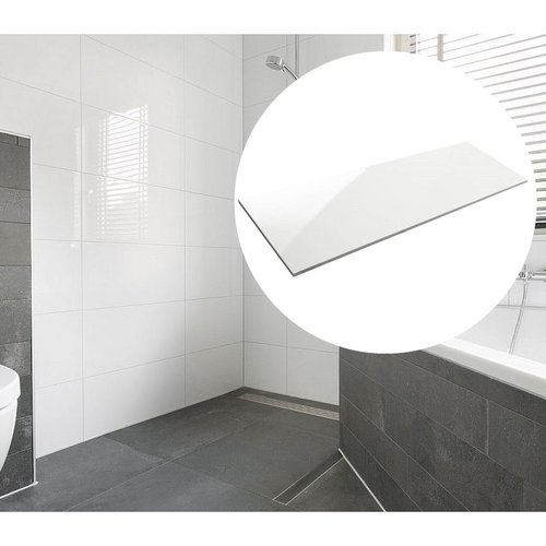Wandtegels Glans Wit 30X90cm Gekalibreerd P/m²