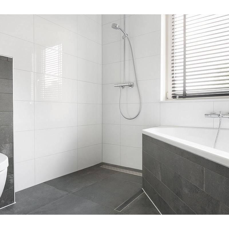 Badkamer tegels wit 30x60 - Badkamer wandtegels ...
