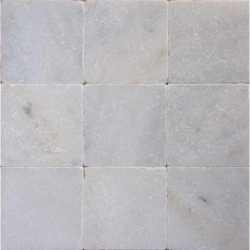 J-Stone Wit marmer anticato 10x10x1, Getrommeld / verouderd P/M²